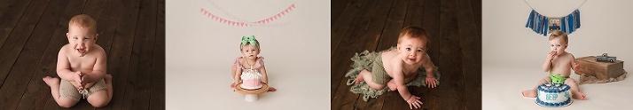 Cake Smash Baby - Greensboro Milestone Photographer