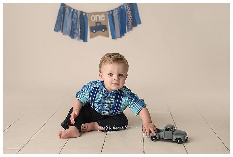 Little Blue Truck CakE Smash