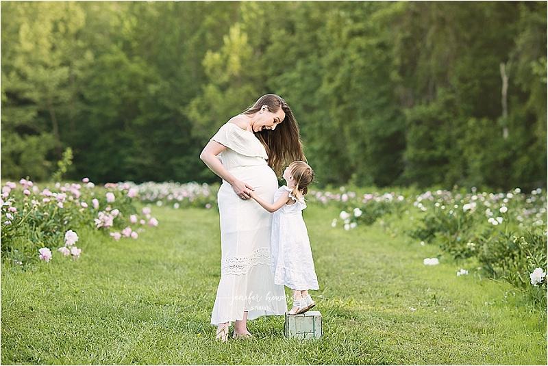 Greensboro Maternity Portraits - Peony Farm